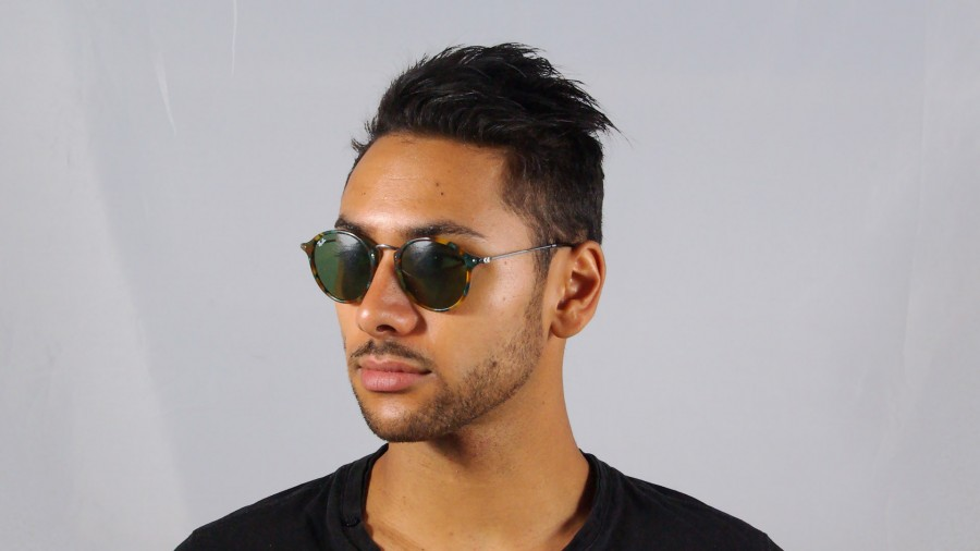 ray ban sonnenbrille round fleck