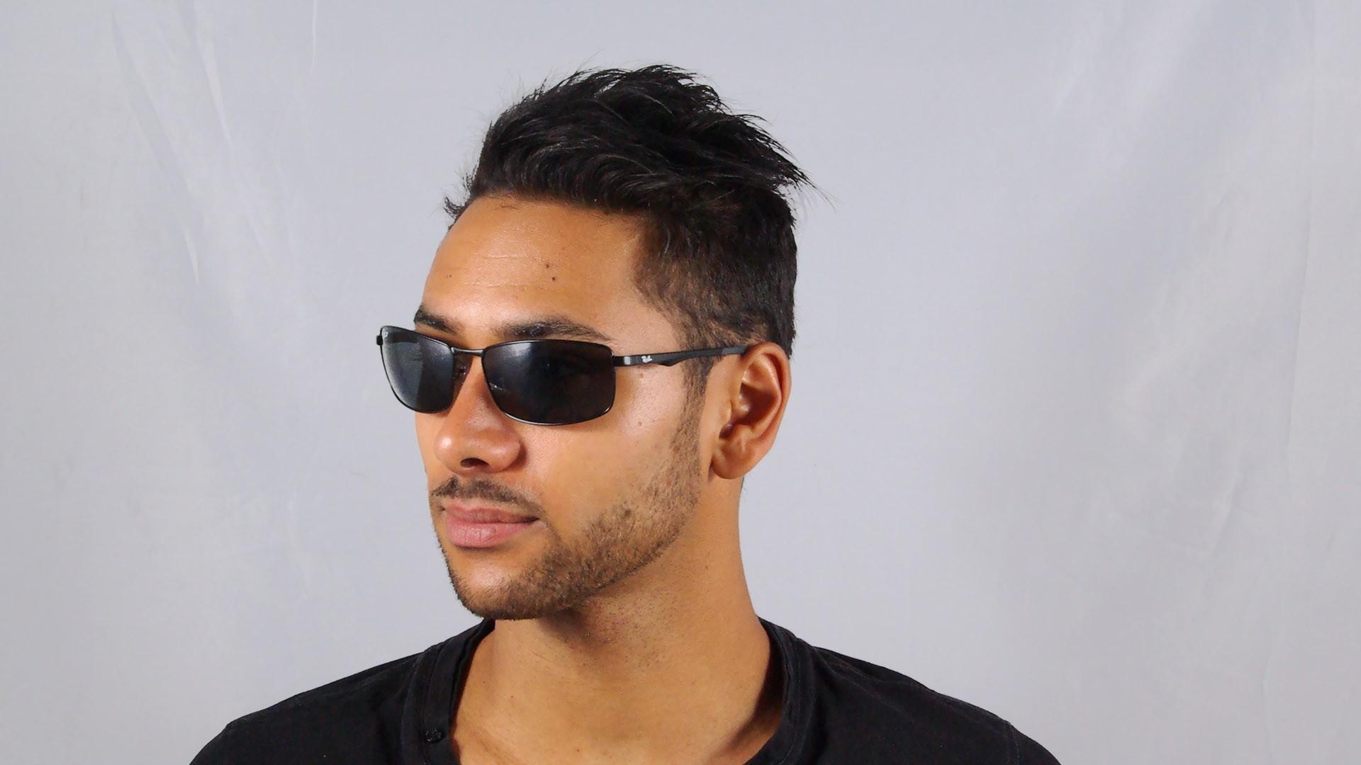 5ef5bc9cf7 Sunglasses Ray-Ban RB3498 006 81 61-17 Black Medium Polarized