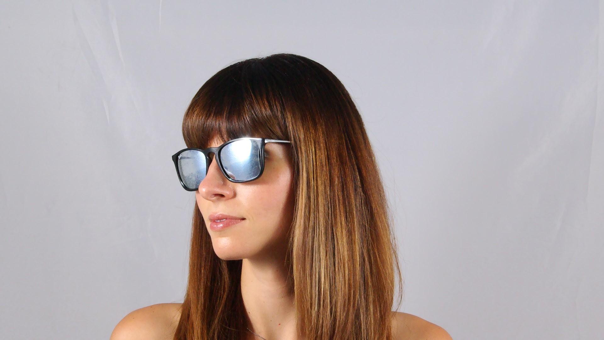 a7a91736006 Sunglasses Ray-Ban Chris Black RB4187 601 30 54-18 Medium Mirror