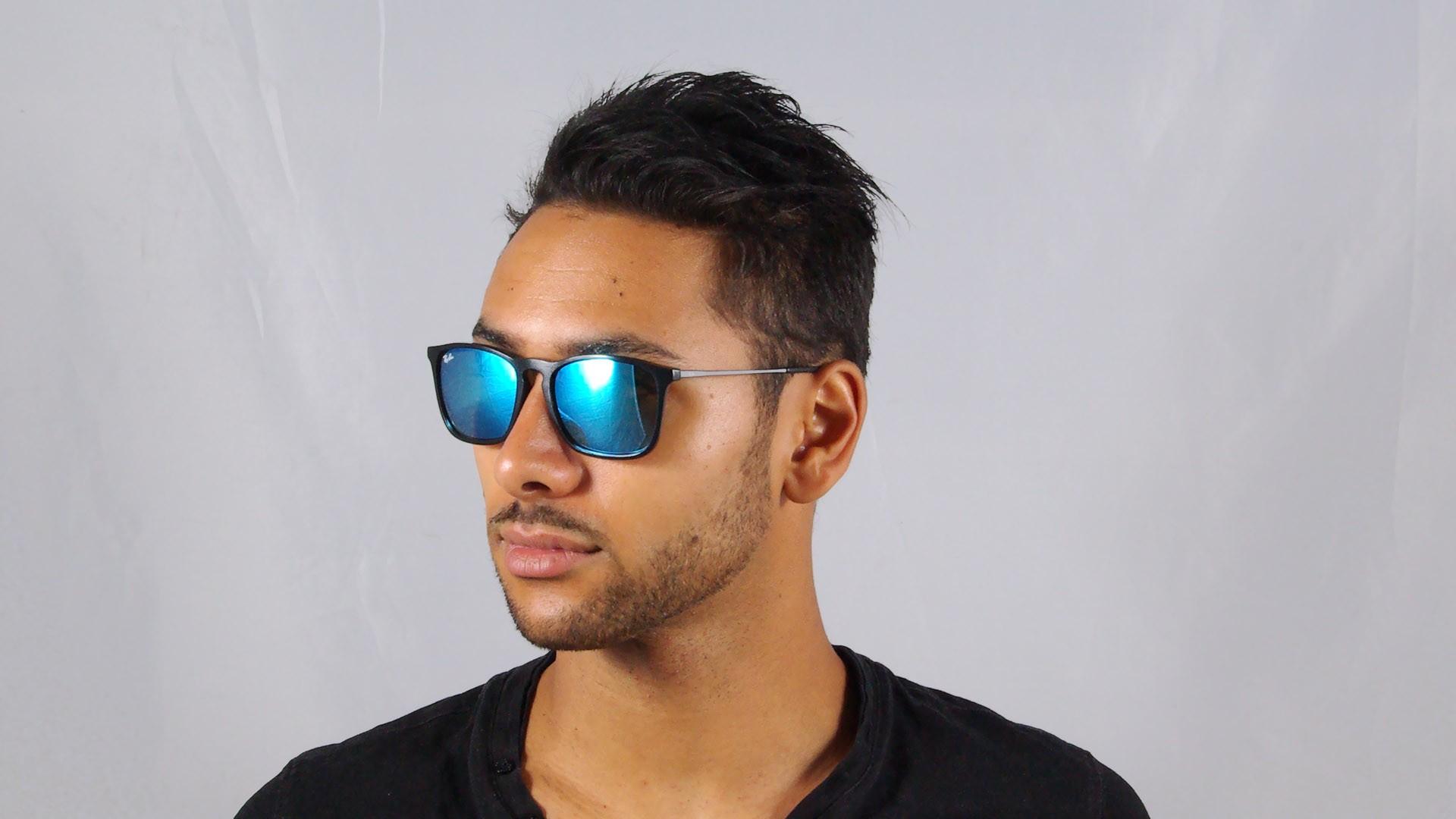 380b141ce1 Sunglasses Ray-Ban Chris Black RB4187 601 55 54-18 Medium Mirror