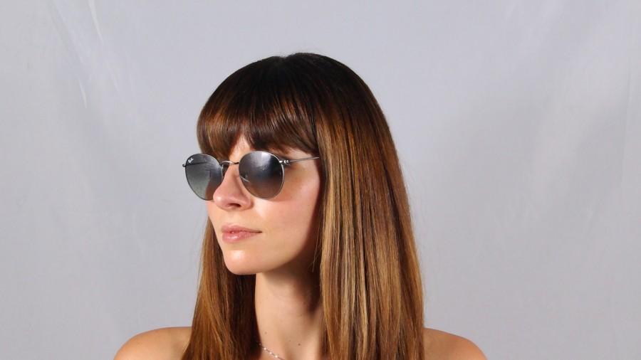 f547736383 Ray Ban Rb3447 Round Metal 029 Sunglasses