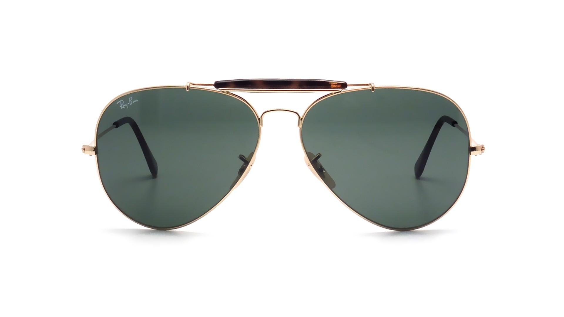 9e25e4c5ee Sunglasses Ray-Ban Outdoorsman II Havane Gold RB3029 181 62-14 Large