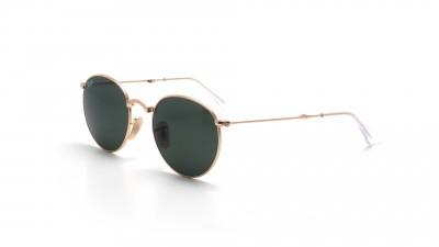 99f400b509 Sunglasses Ray-Ban Round Gold RB3532 001 50-20 Medium Pliantes