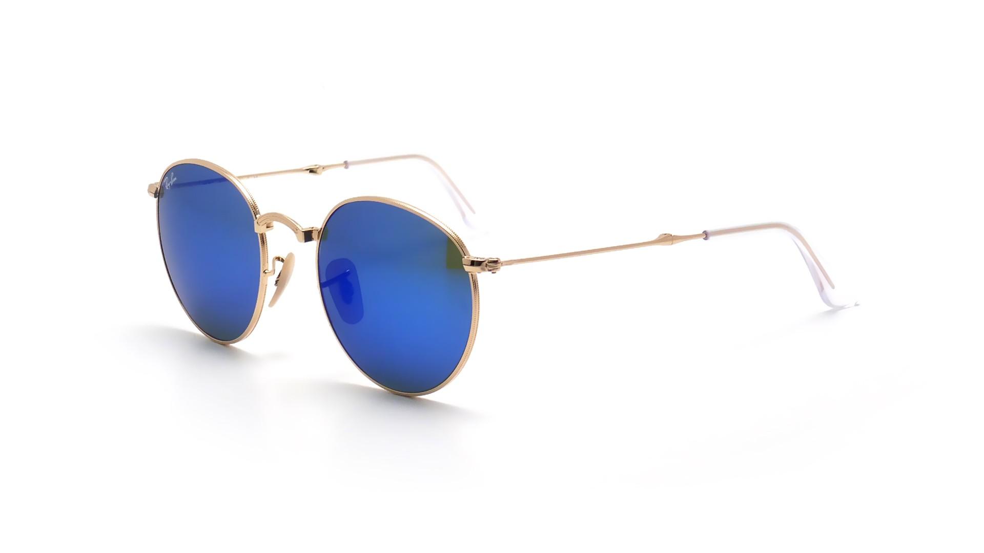 7e886b87f4 Sunglasses Ray-Ban Round Gold RB3532 001 68 50-20 Medium Pliantes Mirror