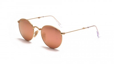 a7b01c64e28 Sunglasses Ray-Ban Round Gold RB3532 001 Z2 47-20 Small Pliantes Mirror