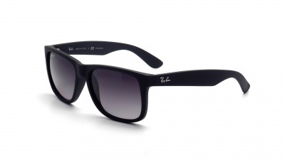 f0cec02bed Ray-Ban P Justin Black RB4165 622 T3 54-16 Polarisés ...