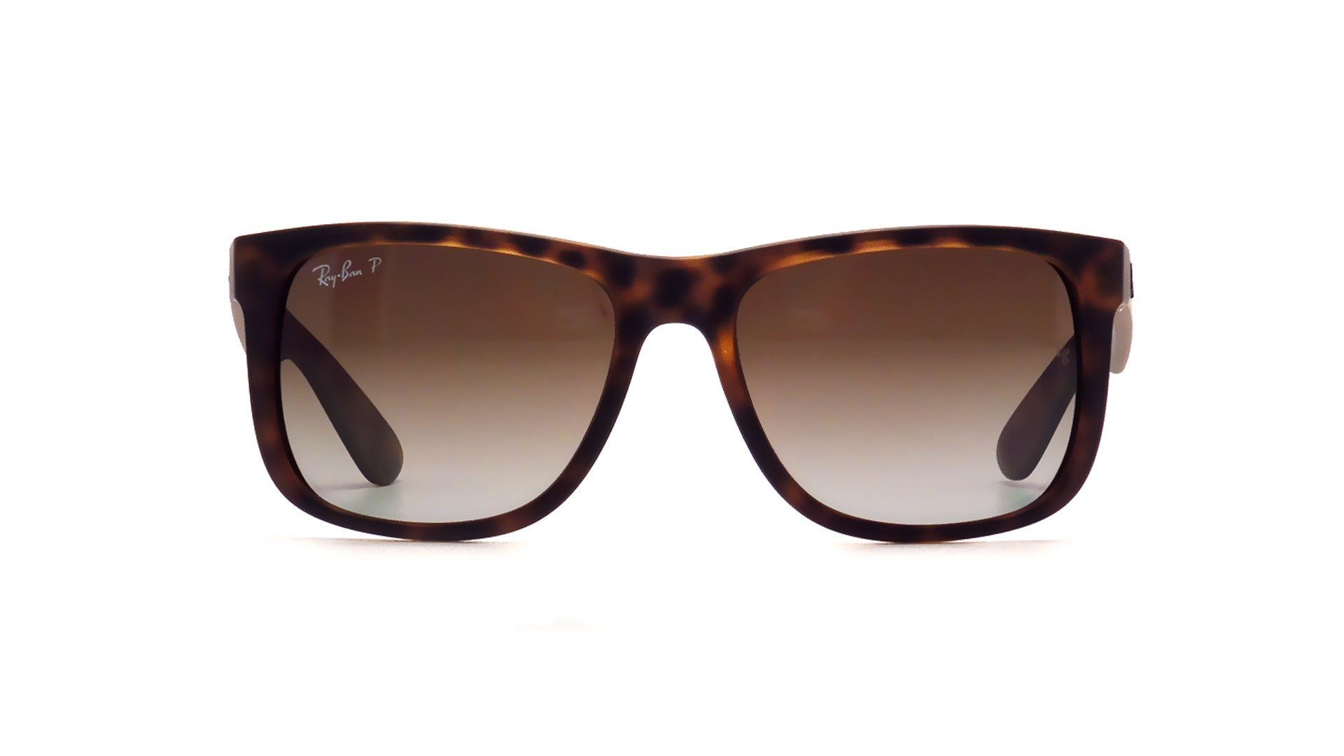 17239e24101 Sunglasses Ray-Ban Justin Brown RB4165 865 T5 54-16 Medium Polarized  Gradient
