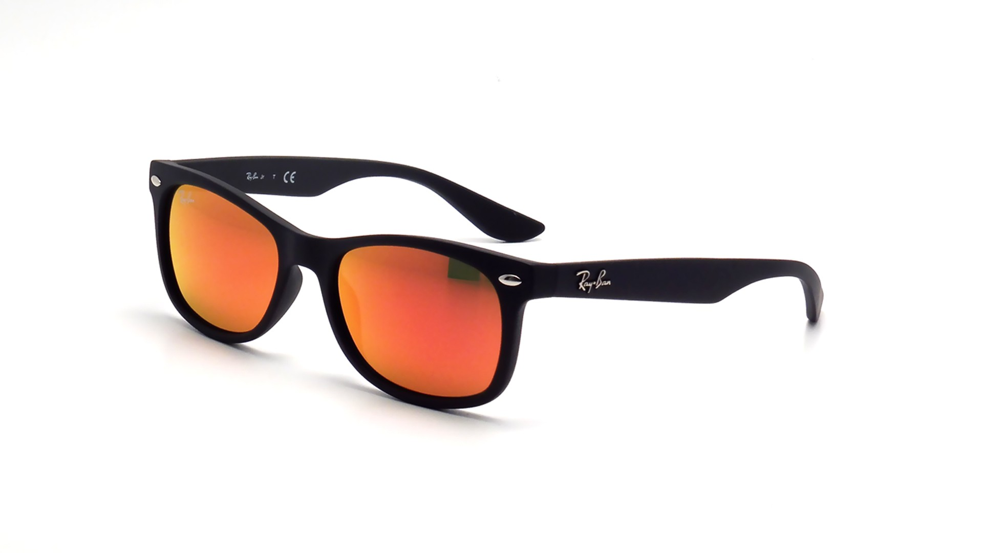 0715393e93f Sunglasses Ray-Ban Wayfarer Black RJ9052S 100S6Q 48-16 Junior Mirror