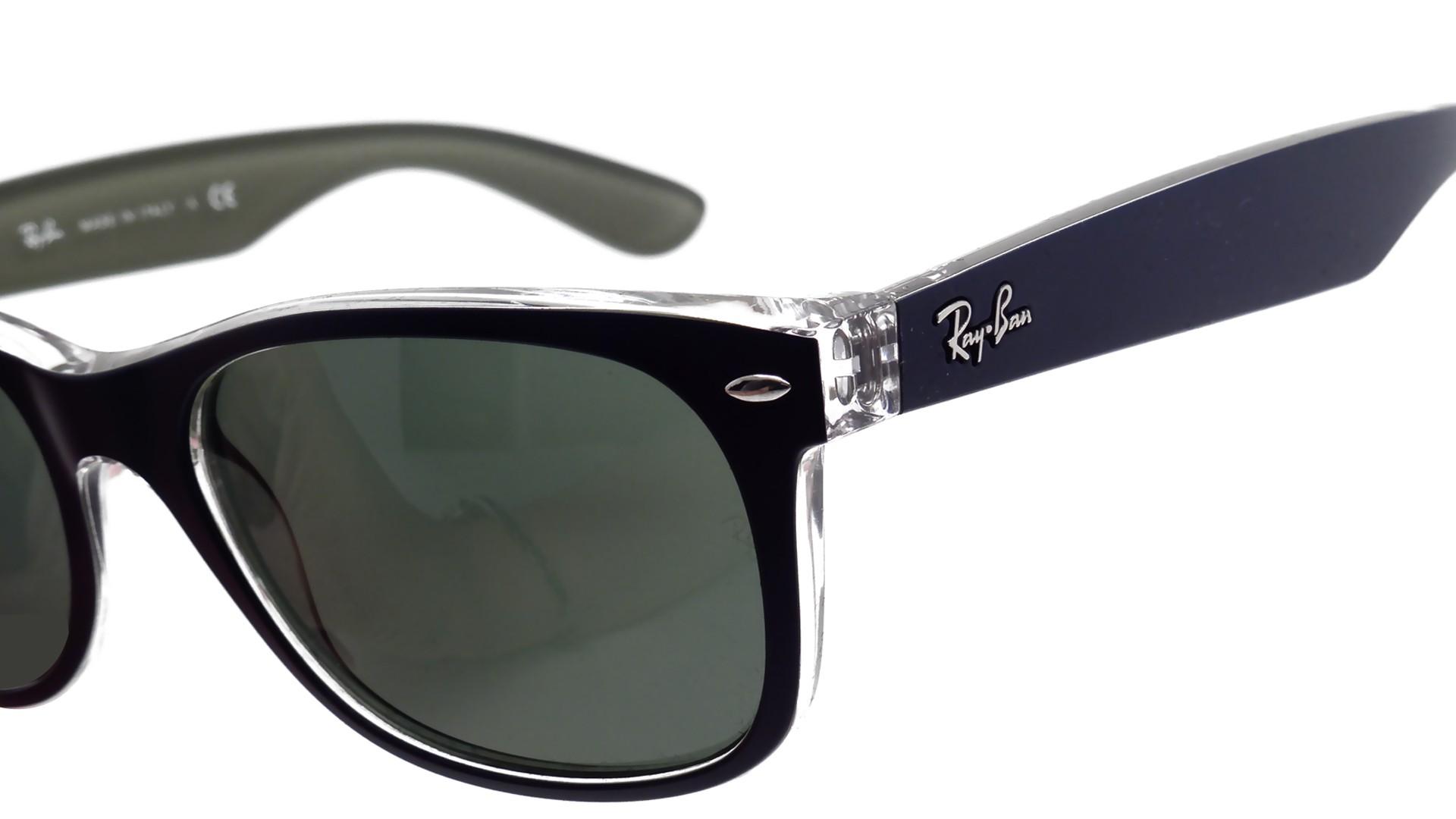 e64c4f888ba Sunglasses Ray-Ban New Wayfarer Blue RB2132 6188 52-18 Medium