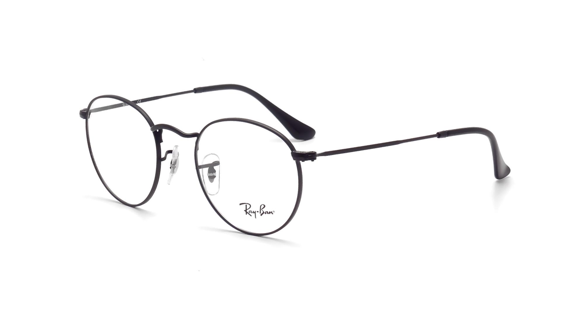 b18315e0e Eyeglasses Ray-Ban Round Metal RX3447 RB3447V 2503 47-21 Black Small