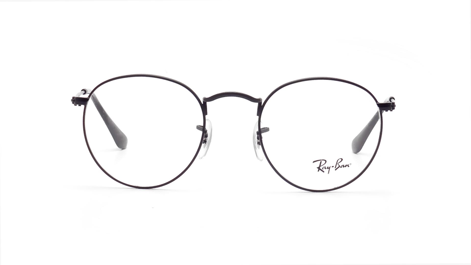 910d16891c Lunettes de vue Ray-Ban Round Metal RX3447 RB3447V 2503 47-21 Noir | Prix  74,50 € | Visiofactory