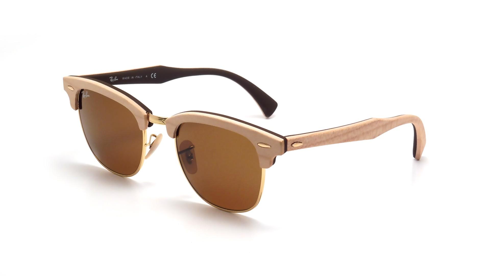 4c1e417e5e Sunglasses Ray-Ban Clubmaster Wood Brown RB3016M 1179 51-21 Medium