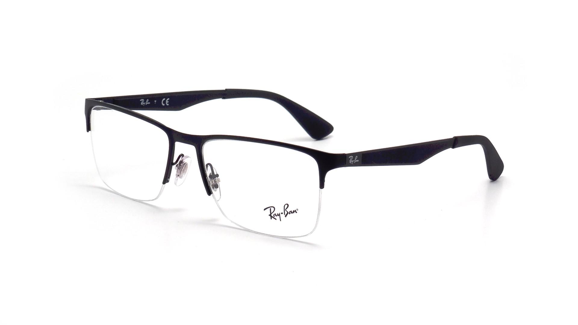 417a52eac07 Eyeglasses Ray-Ban RX6335 RB6335 2503 54-17 Black Medium