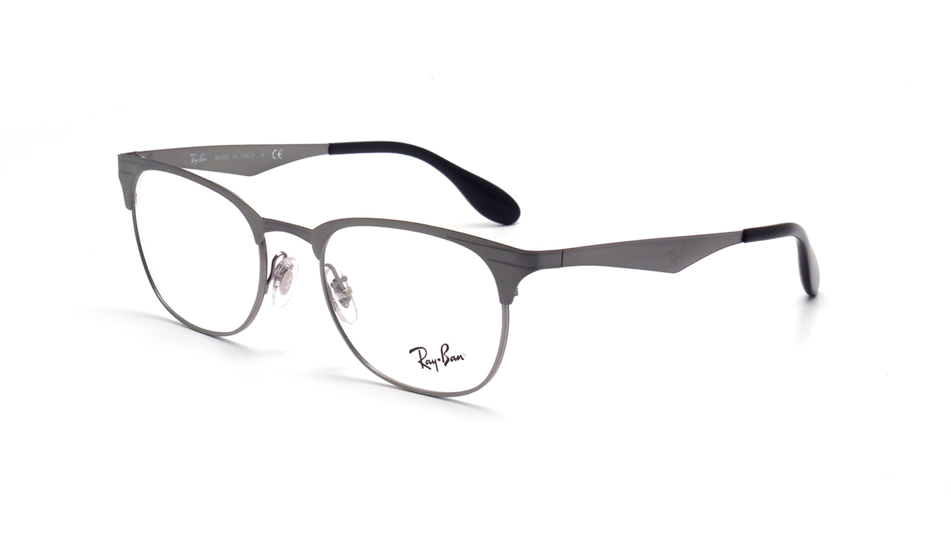 Lunettes de vue Ray-Ban Clubmaster Grey RX6346 RB6346 2553 50-19 ... e0ff63b51a3a