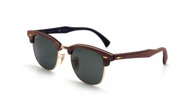 Sunglasses Ray-Ban Clubmaster Wood Brown RB3016M 118158 51-21 Medium  Polarized 782757b4513