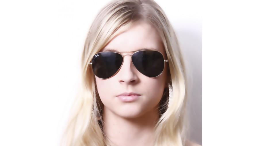 ray ban rb3026 large aviator ii gold sunglasses