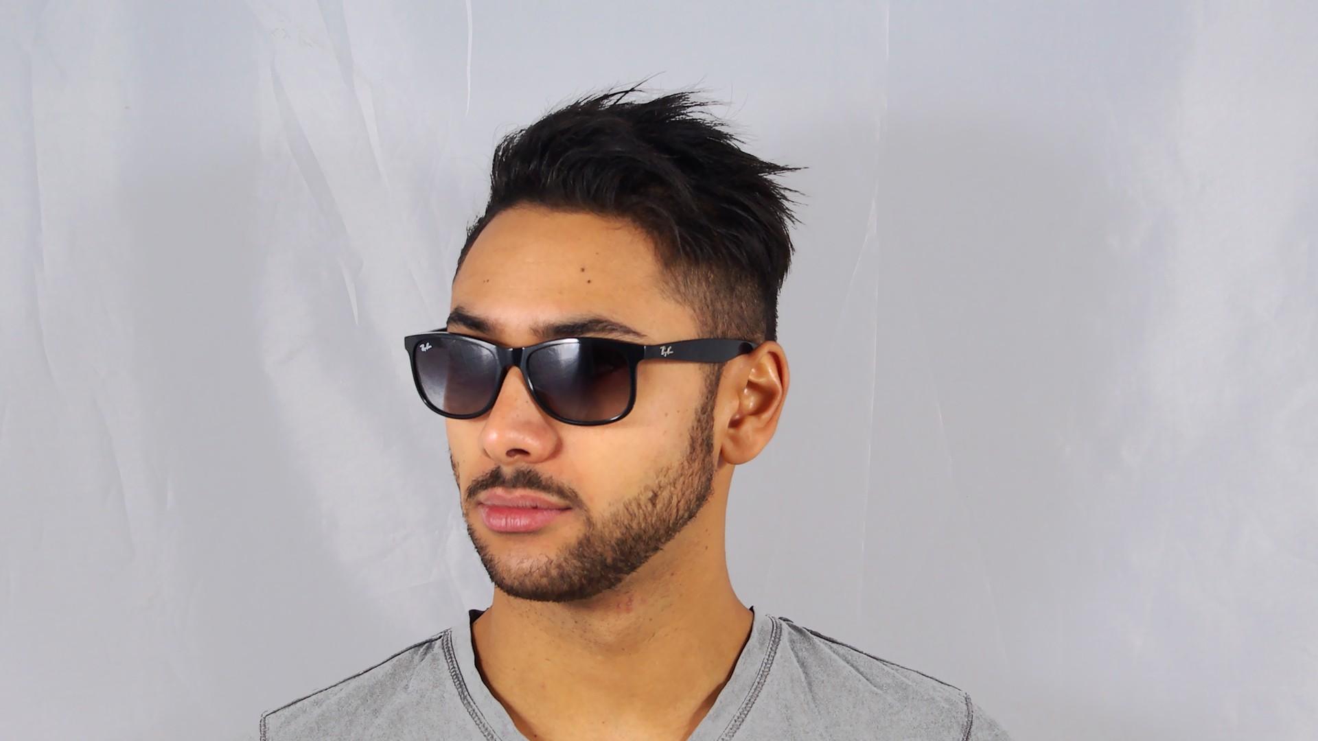4e0a80ae88 Sunglasses Ray-Ban Andy Black RB4202 601 8G 55-17 Medium Gradient