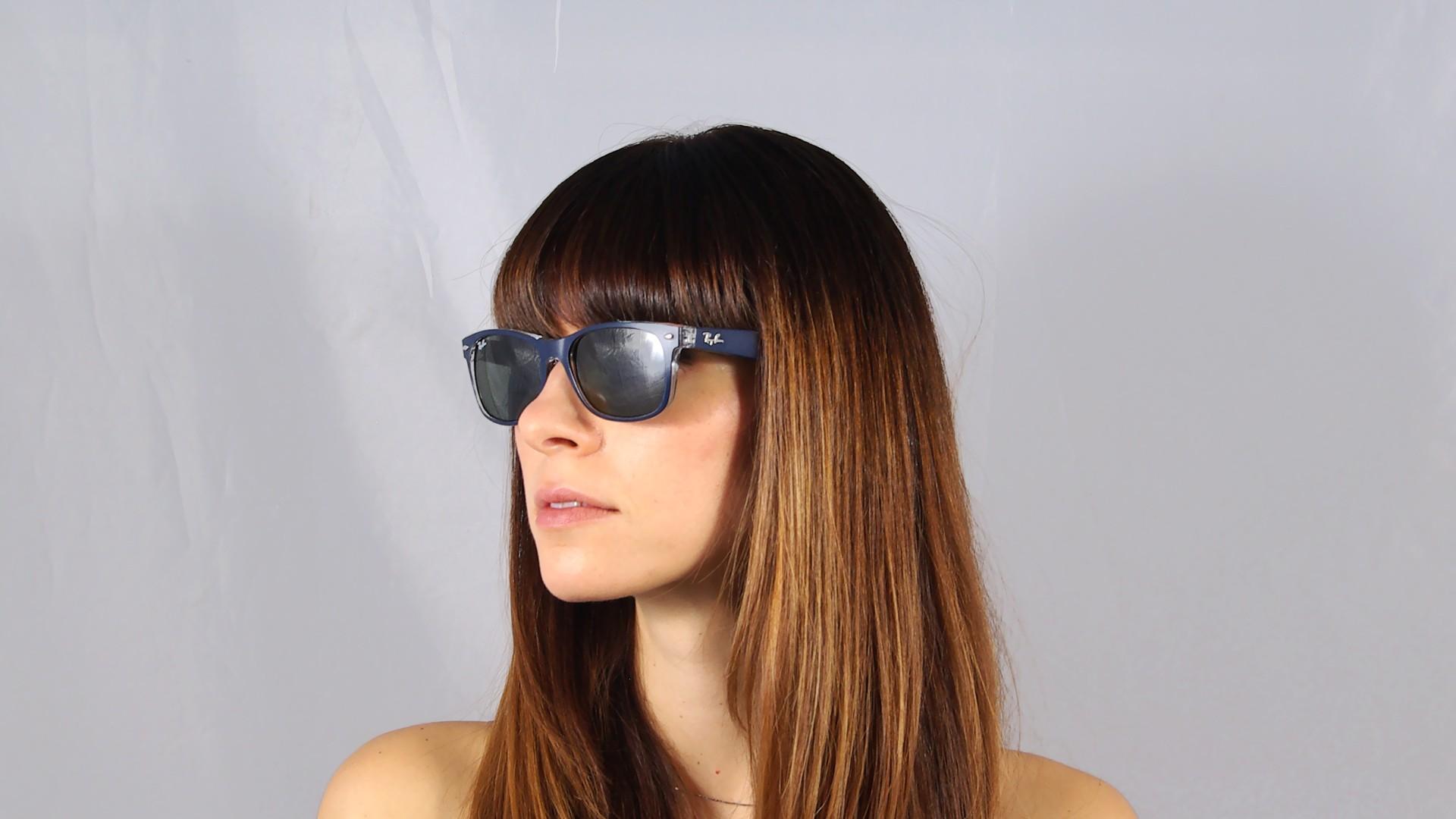 Sunglasses Ray-Ban New Wayfarer Blue RB2132 6188 55-18 Large 7526633a3b