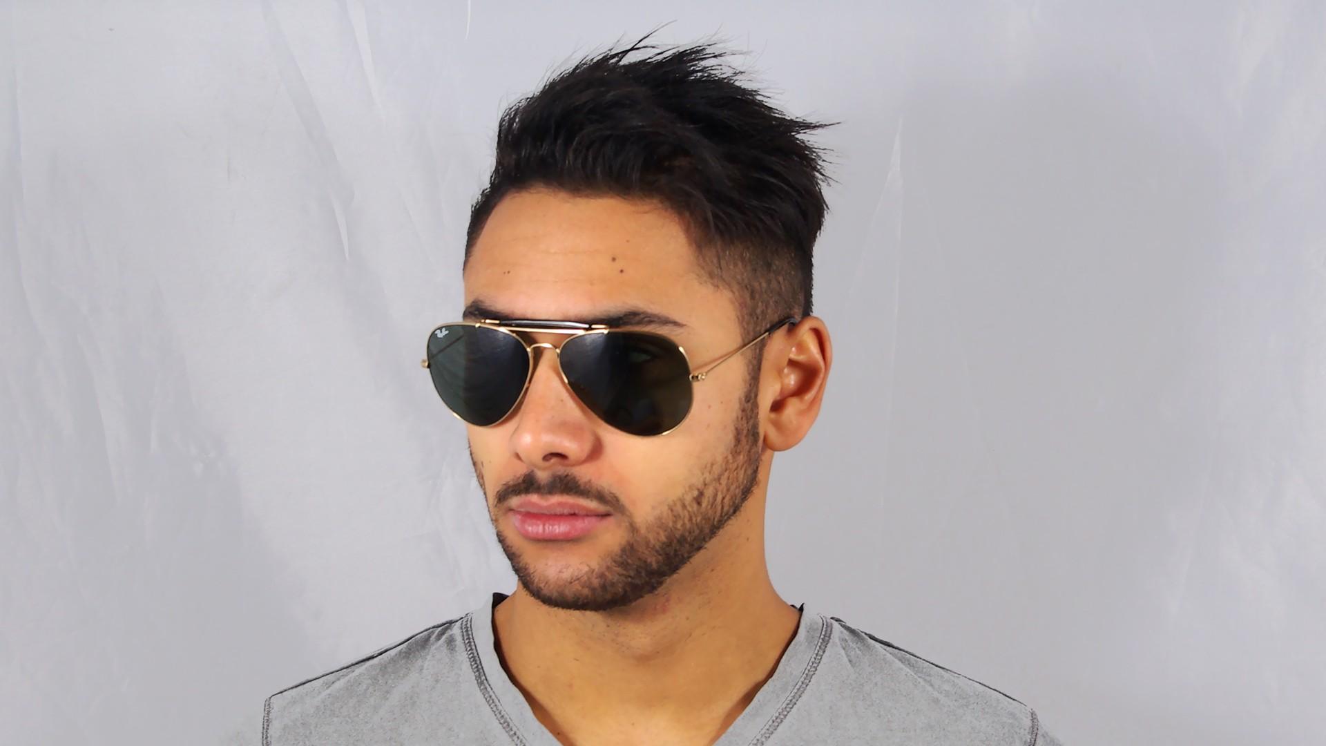 d26b65fb85 Sunglasses Ray-Ban Outdoorsman II Havane Gold RB3029 181 62-14 Large
