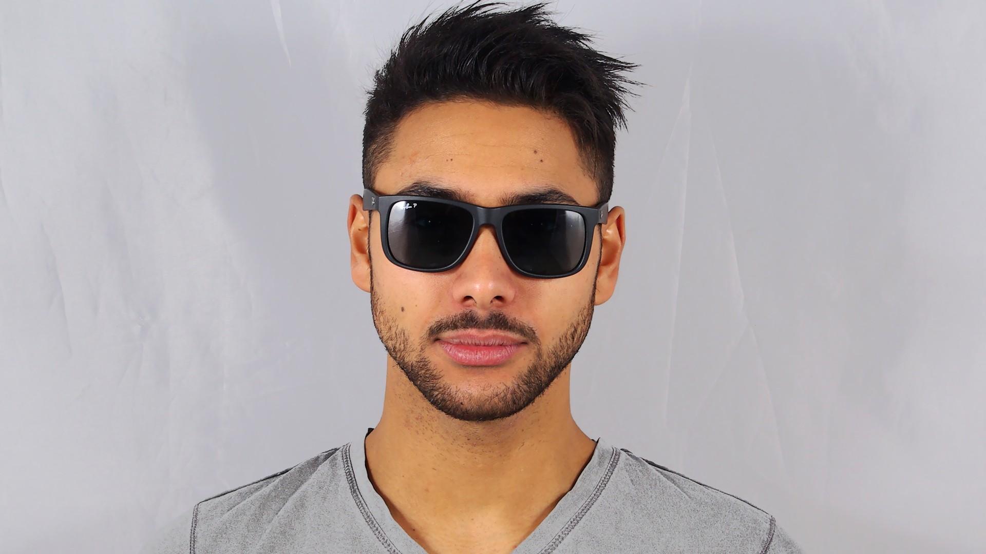 1411100b95c12 Sunglasses Ray-Ban Justin Black RB4165 622 2V 54-16 Medium Polarized