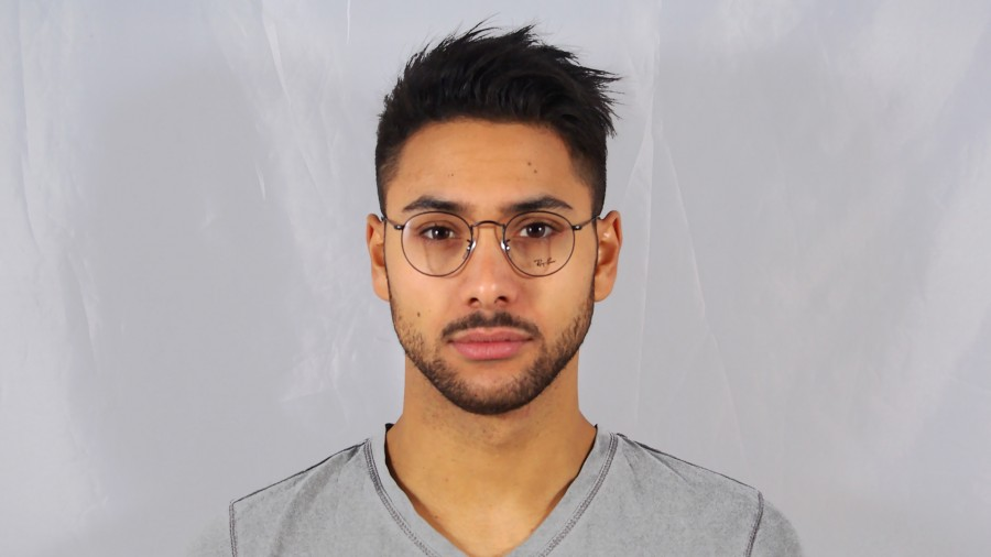 lunettes de vue rayban round metal rx3447 rb3447v 2503 47