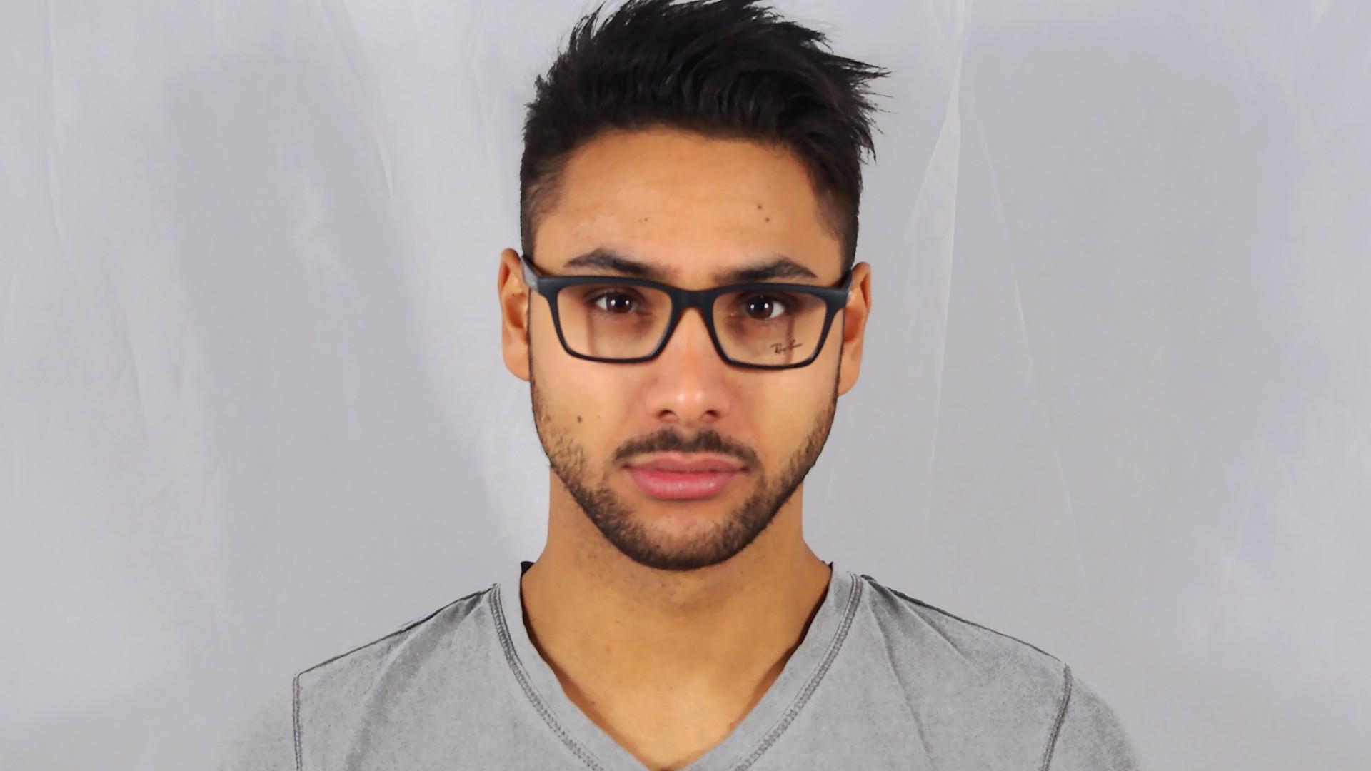 a5c15af73d00b Eyeglasses Ray-Ban RX7025 RB7025 2077 53-17 Black Medium