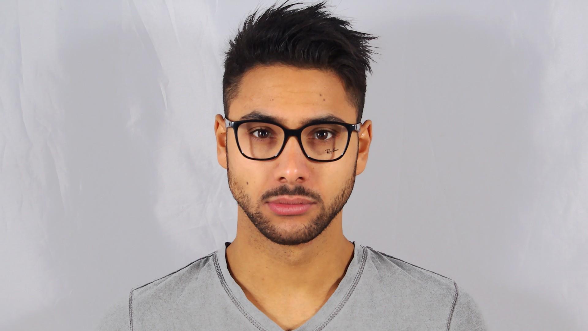 b112f52632 Eyeglasses Ray-Ban RX7066 RB7066 2000 52-17 Black Medium