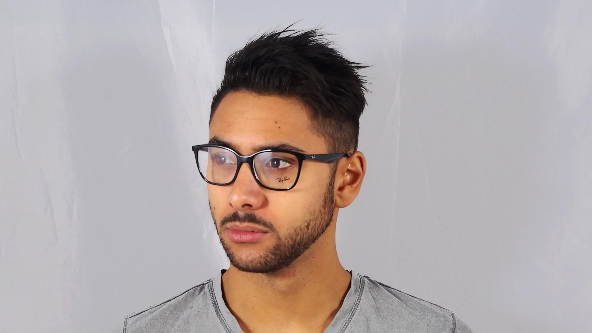 5f5126bc319 Eyeglasses Ray-Ban RX7066 RB7066 2000 52-17 Black Medium
