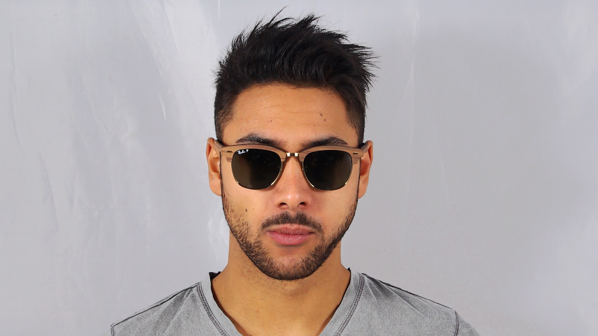 8220d2689f3 ... germany sunglasses ray ban clubmaster wood brown rb3016m 118158 51 21  medium polarized f8803 50e51