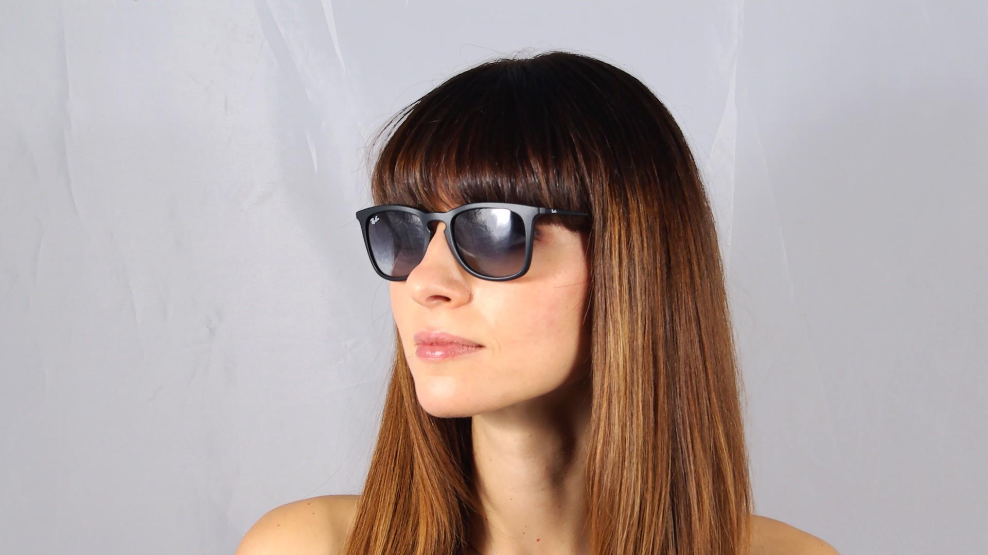 7a04b87ebe4 Sunglasses Ray-Ban RB4221 622 8G 50-19 Black Matte Medium Gradient