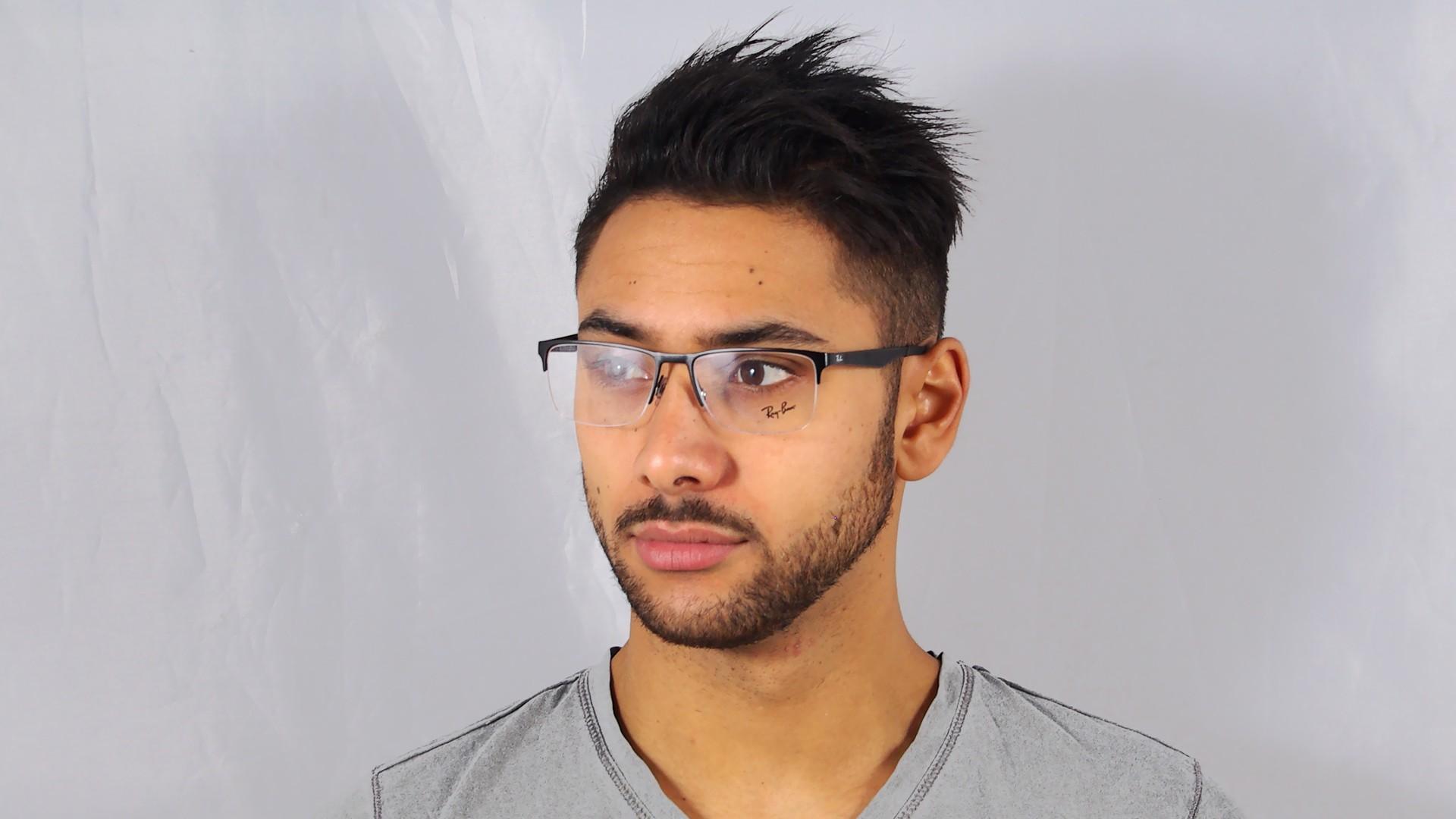 2893e20db65 Eyeglasses Ray-Ban RX6335 RB6335 2503 54-17 Black Medium