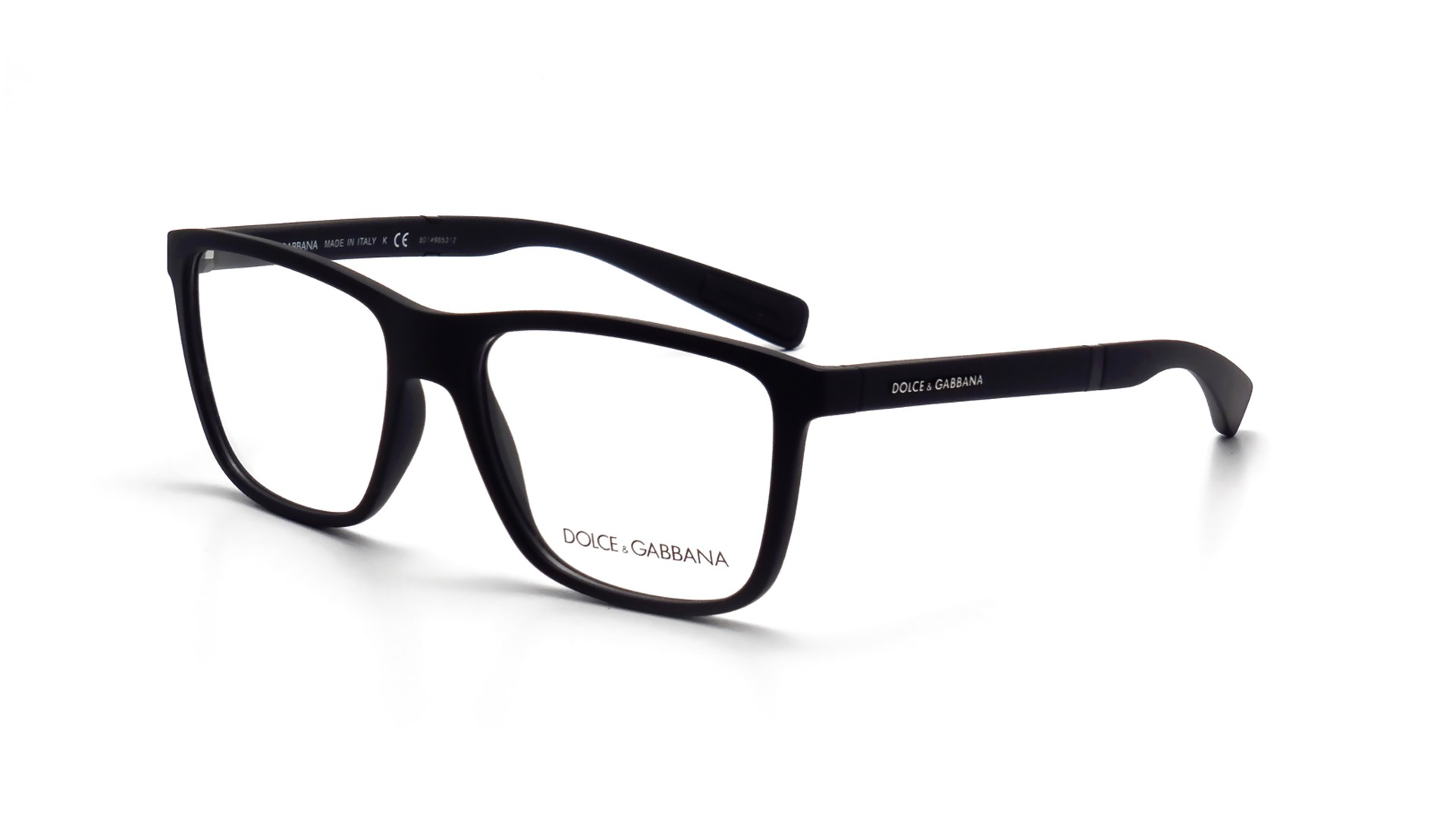 Eyeglasses Dolce & Gabbana DG5016 2616 52-16 Black Matte Medium