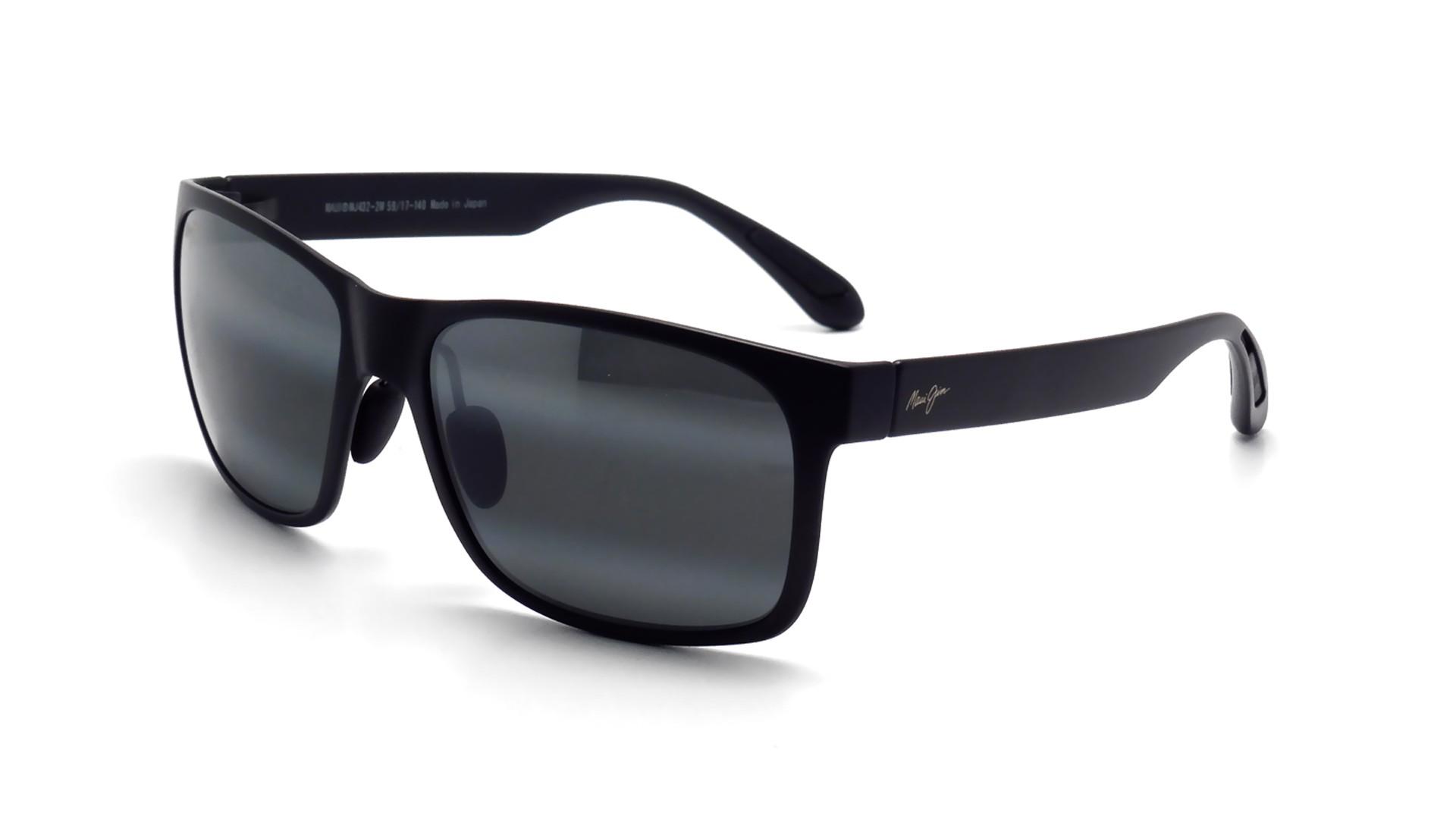75418e784c Sunglasses Maui Jim Red Sands Black Matte Neutral Grey 432 2M 59-17 Large  Polarized Gradient