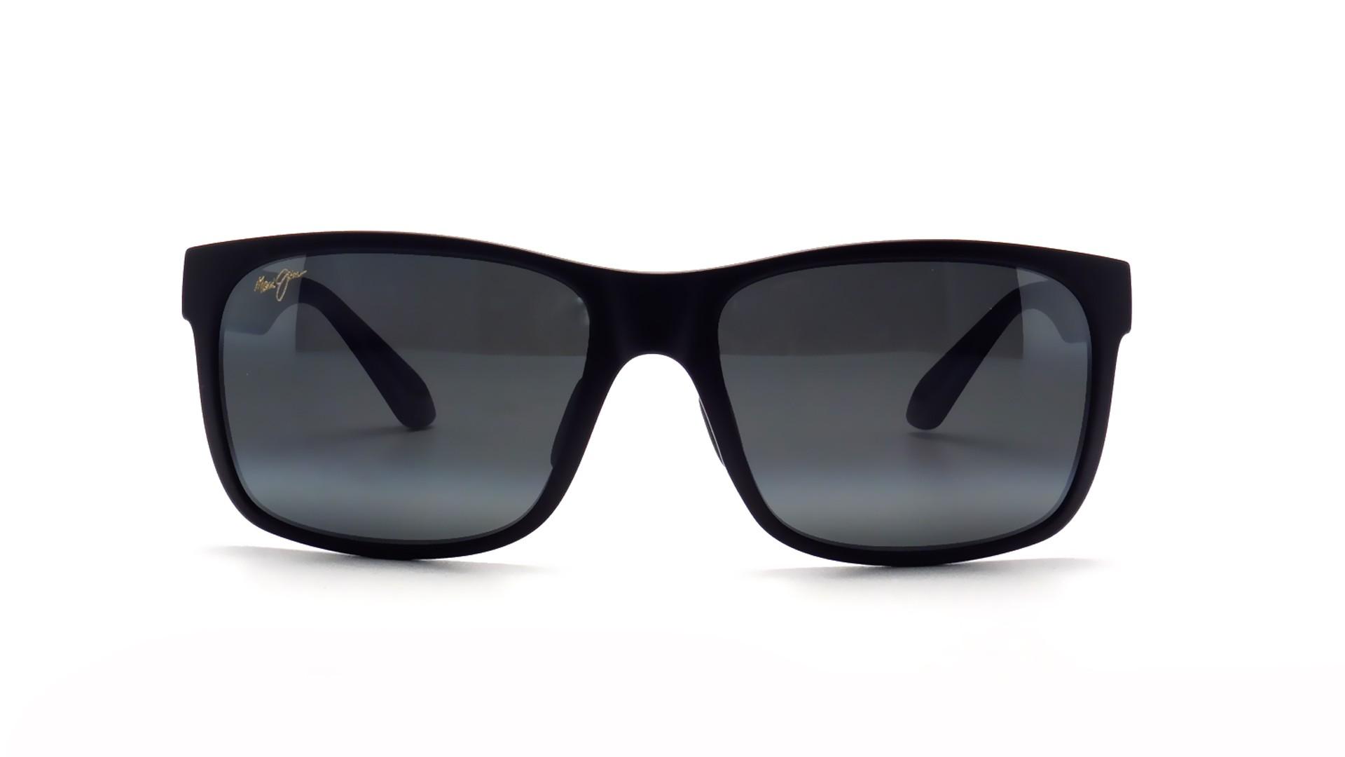 e2c56228ca20a6 Lunettes de soleil Maui Jim Red Sands Noir Mat Neutral Grey 432 2M 59-17  Large Polarisées Dégradés