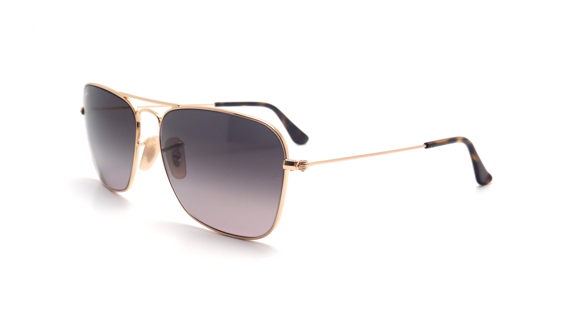 afc9d6adc80 Sunglasses Ray-Ban Caravan Gold RB3136 181 71 58-15 Large Gradient