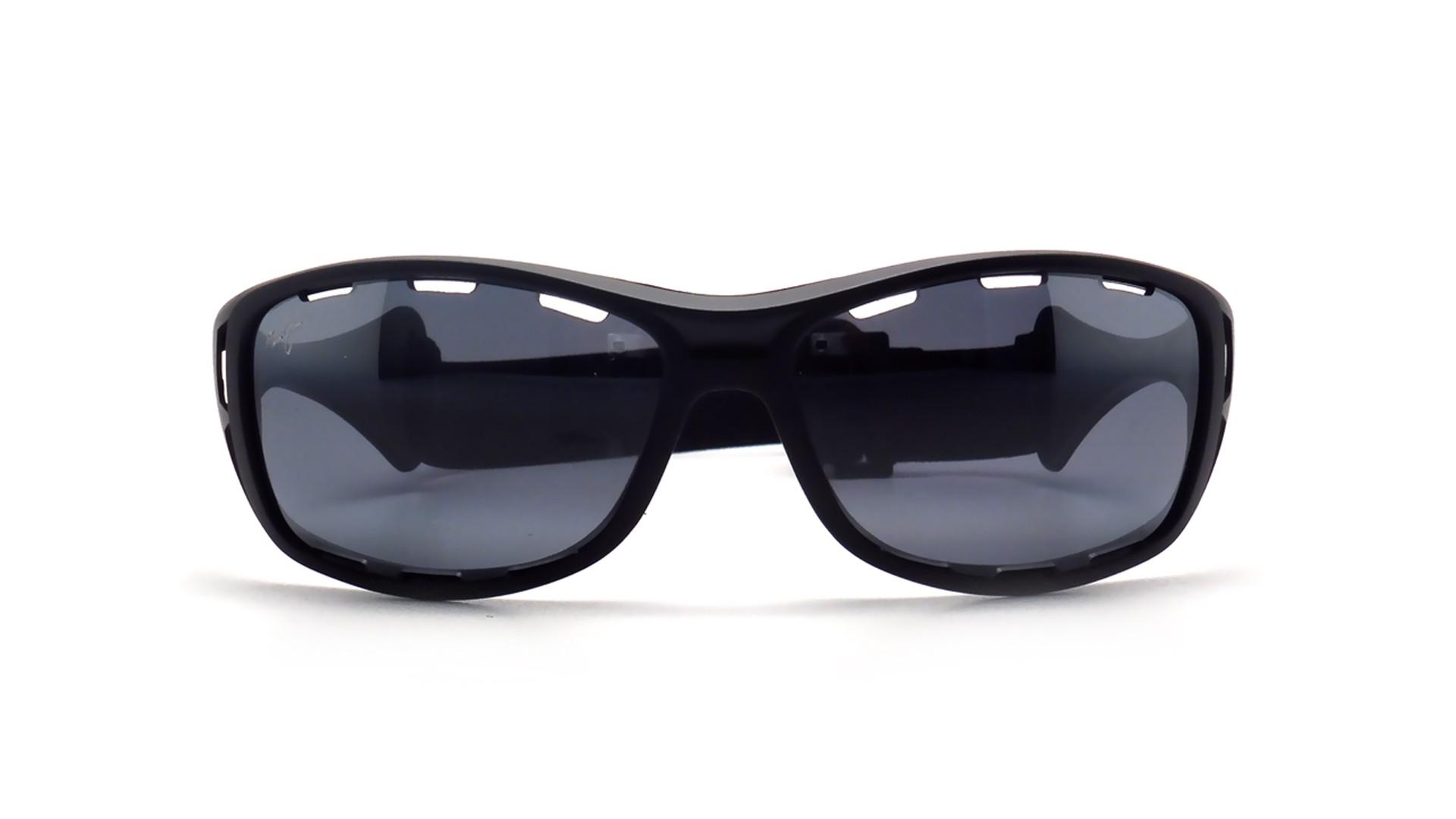 d3d42b6bd41 Sunglasses Maui Jim Waterman Black Matte Neutral Grey 410 2M 63 Large  Polarized Mirror