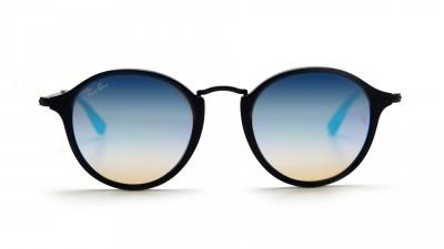 aa2f3c01e22 Sunglasses Ray-Ban Round Fleck Black RB2447 901 4O 49-21 Medium Gradient  Mirror