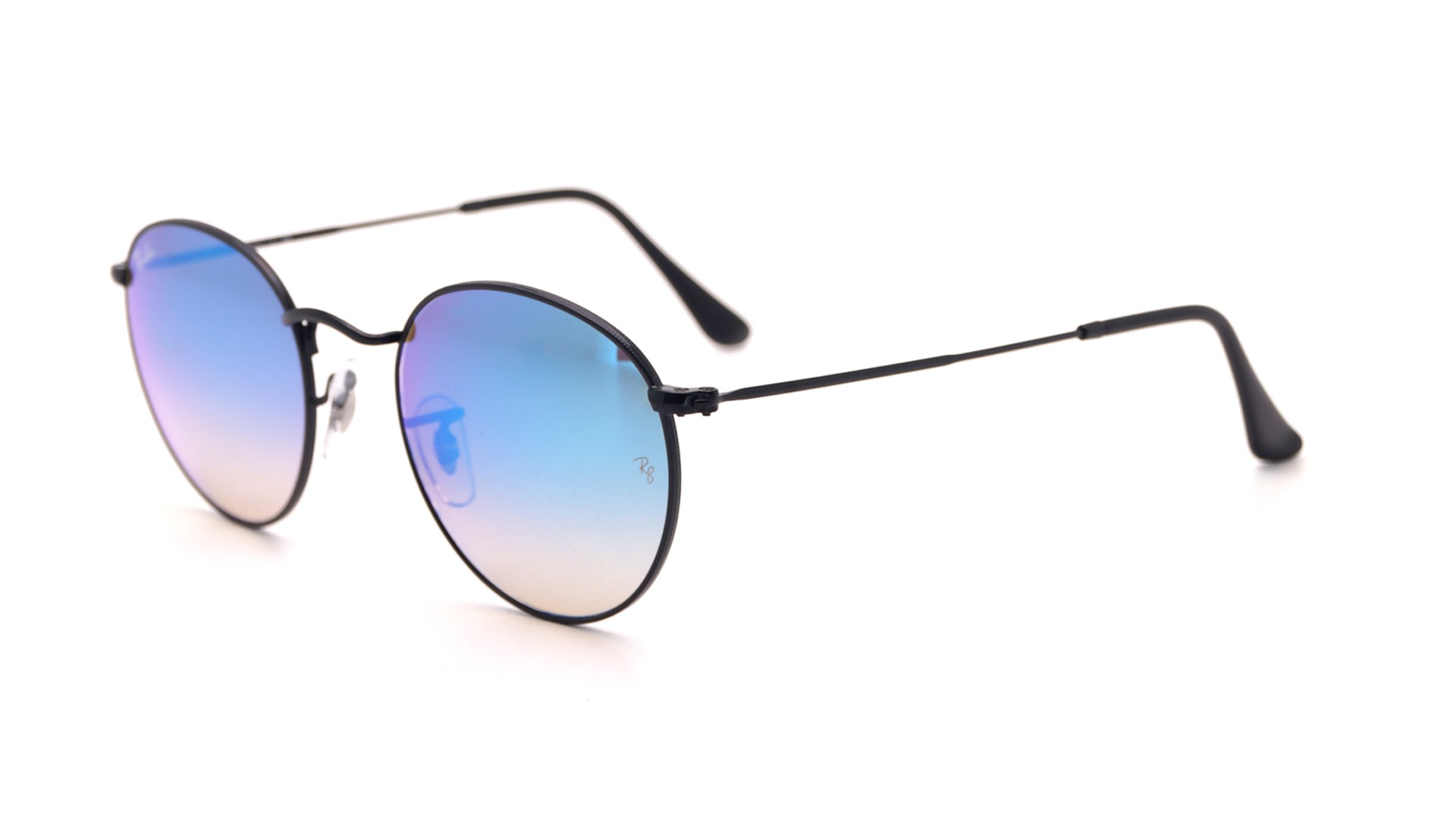 a3eee87125 Sunglasses Ray-Ban Round Metal Black RB3447 002 4O 50-21 Medium Gradient  Mirror