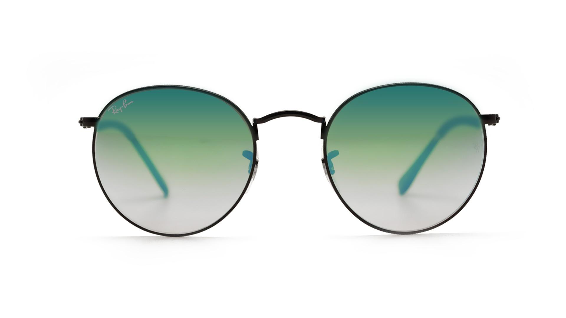aa6ad0e947be7 Sunglasses Ray-Ban Round Metal Black RB3447 002 4J 50-21 Medium Gradient  Mirror