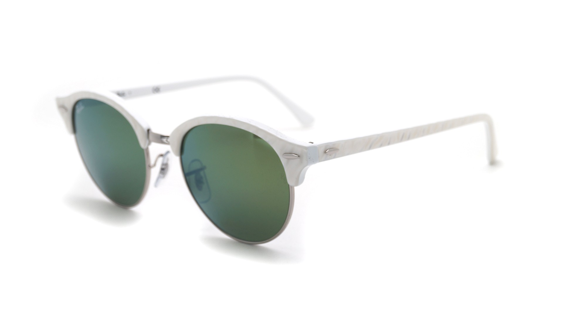 abc50695dc Sunglasses Ray-Ban Clubround White Flash Lenses RB4246 988 2X 51-19 Medium  Mirror