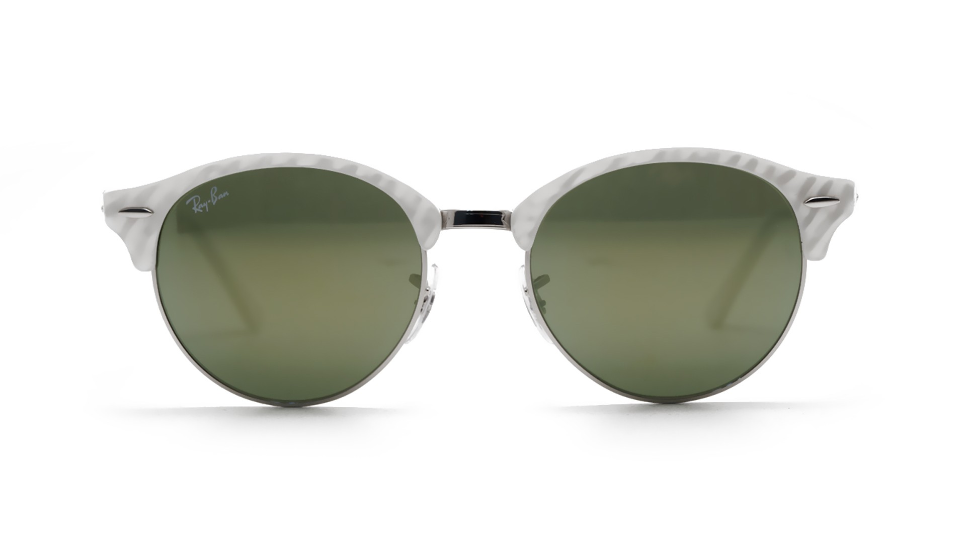 8ae7f79be545f Sunglasses Ray-Ban Clubround White Flash Lenses RB4246 988 2X 51-19 Medium  Mirror