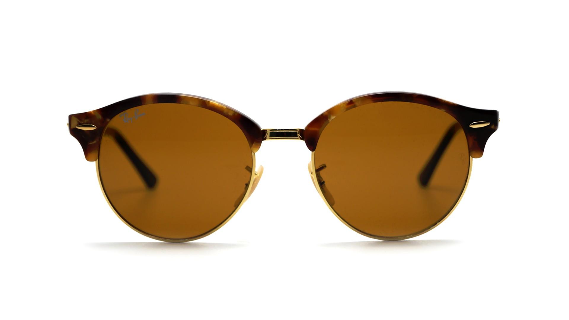 c1f468a35e9 Sunglasses Ray-Ban Clubround Tortoise B-15 RB4246 1160 51-19 Medium