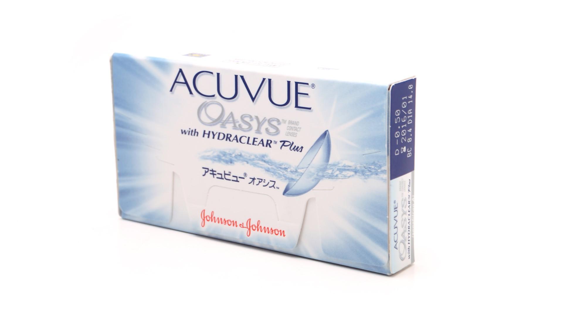 4986d8137957f Lentilles de contact Acuvue Oasys Bi Mensuelles 6L