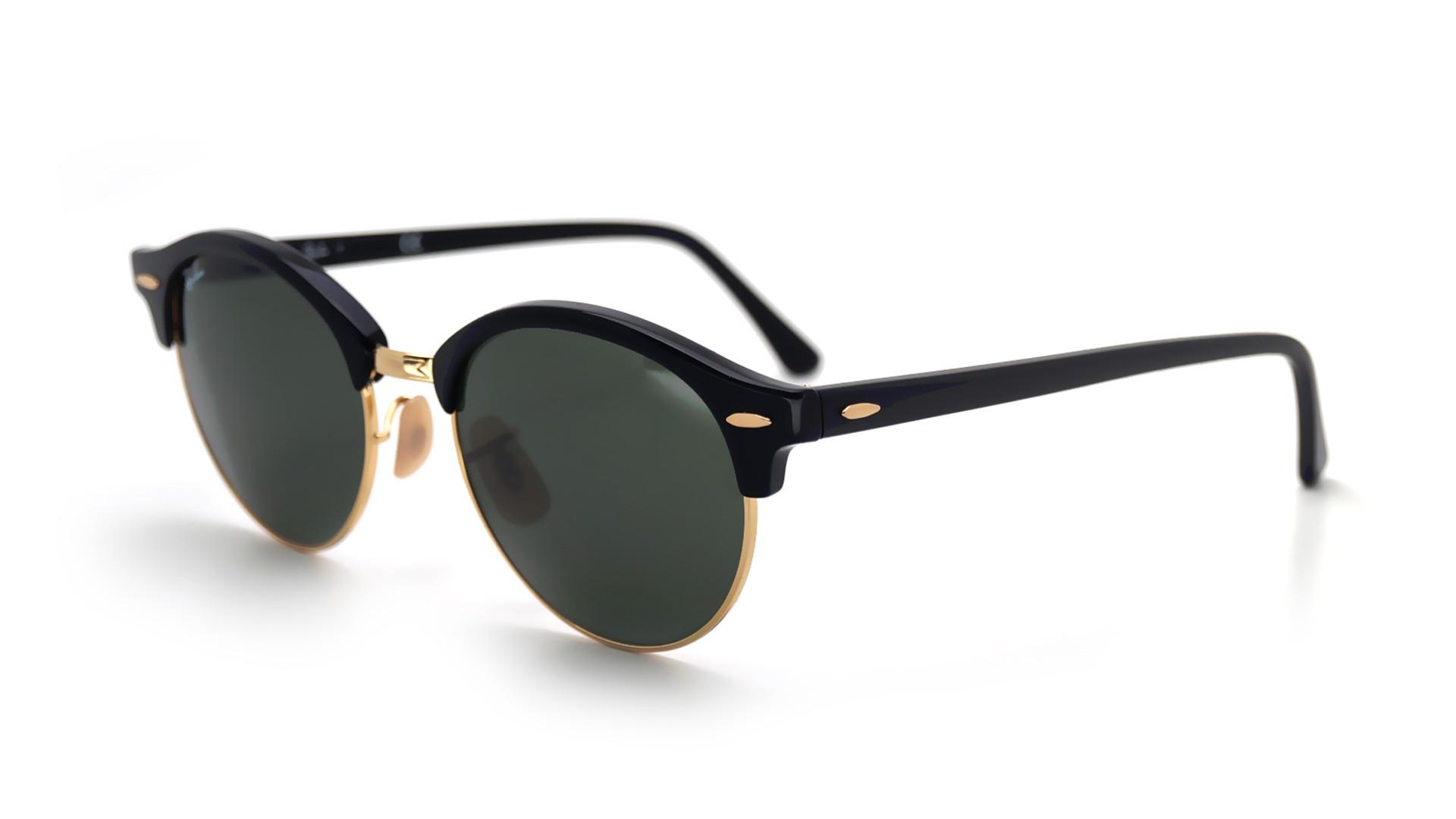 ec7088972b34 Sunglasses Ray-Ban Clubround Black G15 RB4246 901 51-19 Medium