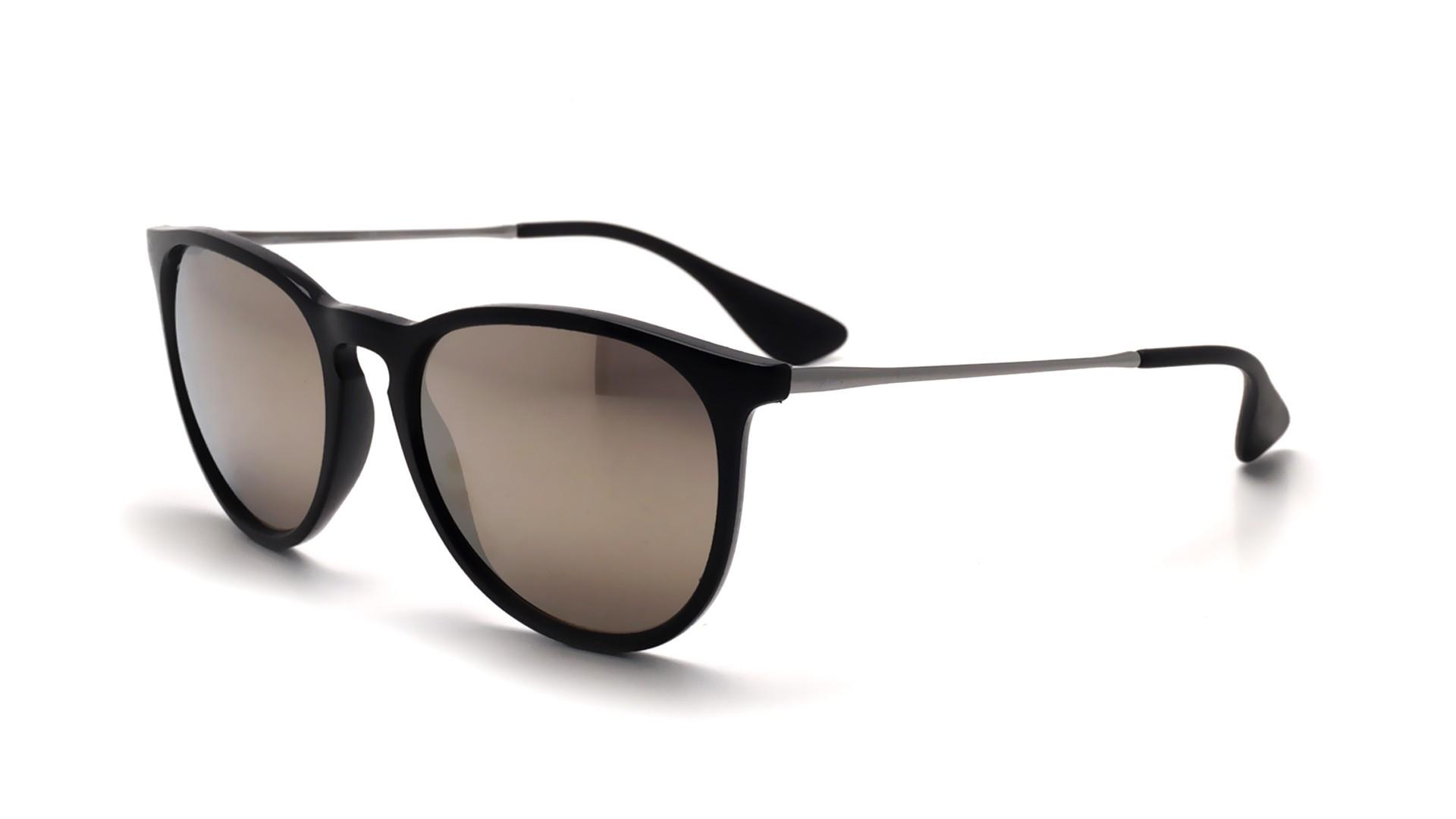 Sunglasses Ray-Ban Erika Black RB4171 601 5A 54-18 Medium Mirror d8acf0ca2409