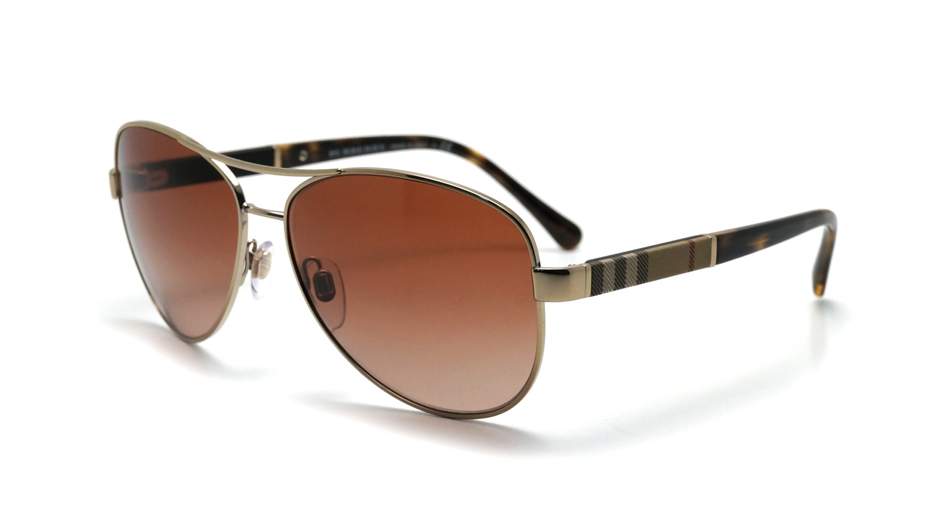 e163fe828f58 Lunettes de soleil Burberry Or BE3080 114513 59-14 | Visiofactory