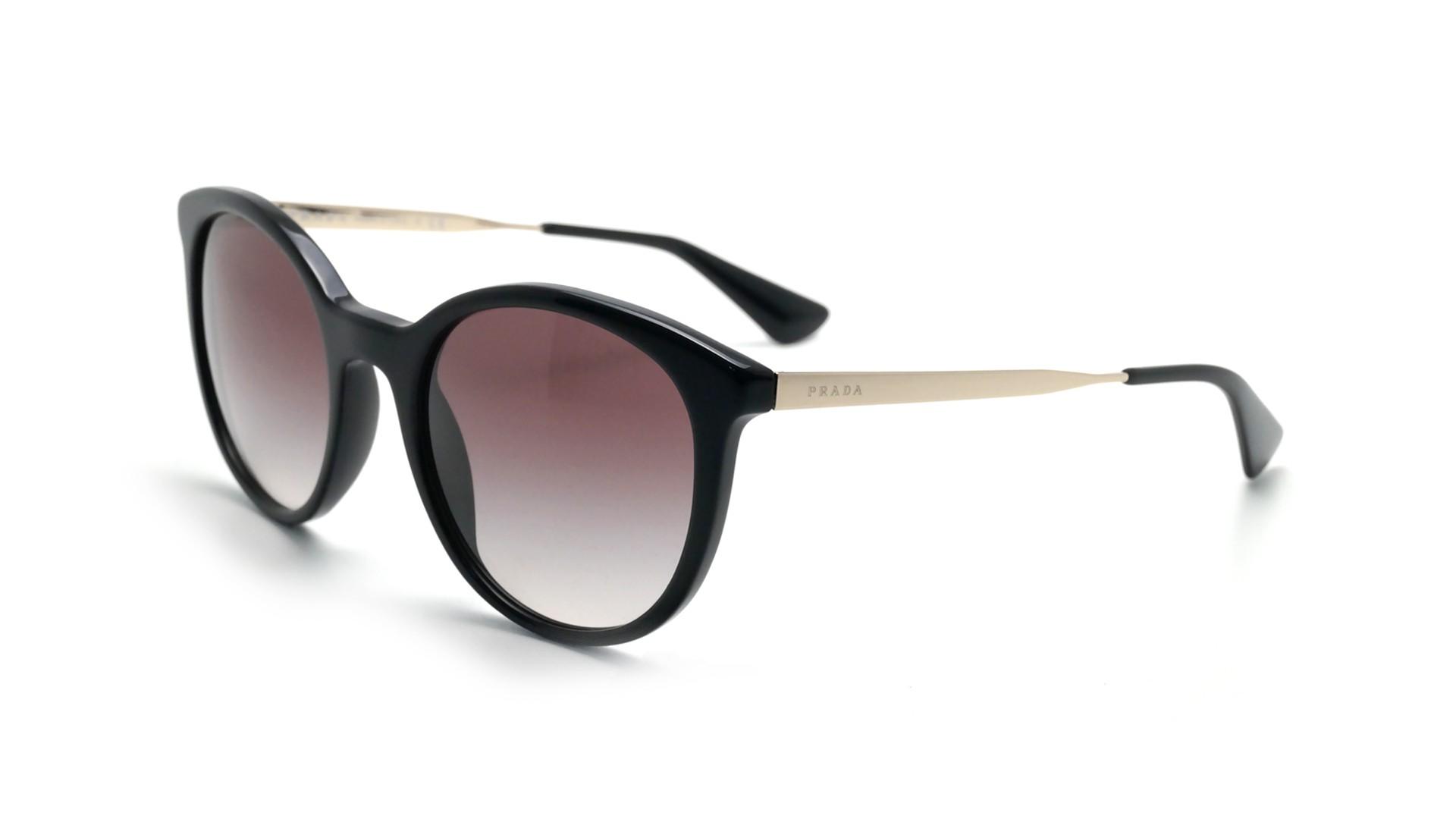 6bb3f5a3ede3e Sunglasses Prada PR17SS 1ab0a7 53-21 Black Medium Degraded