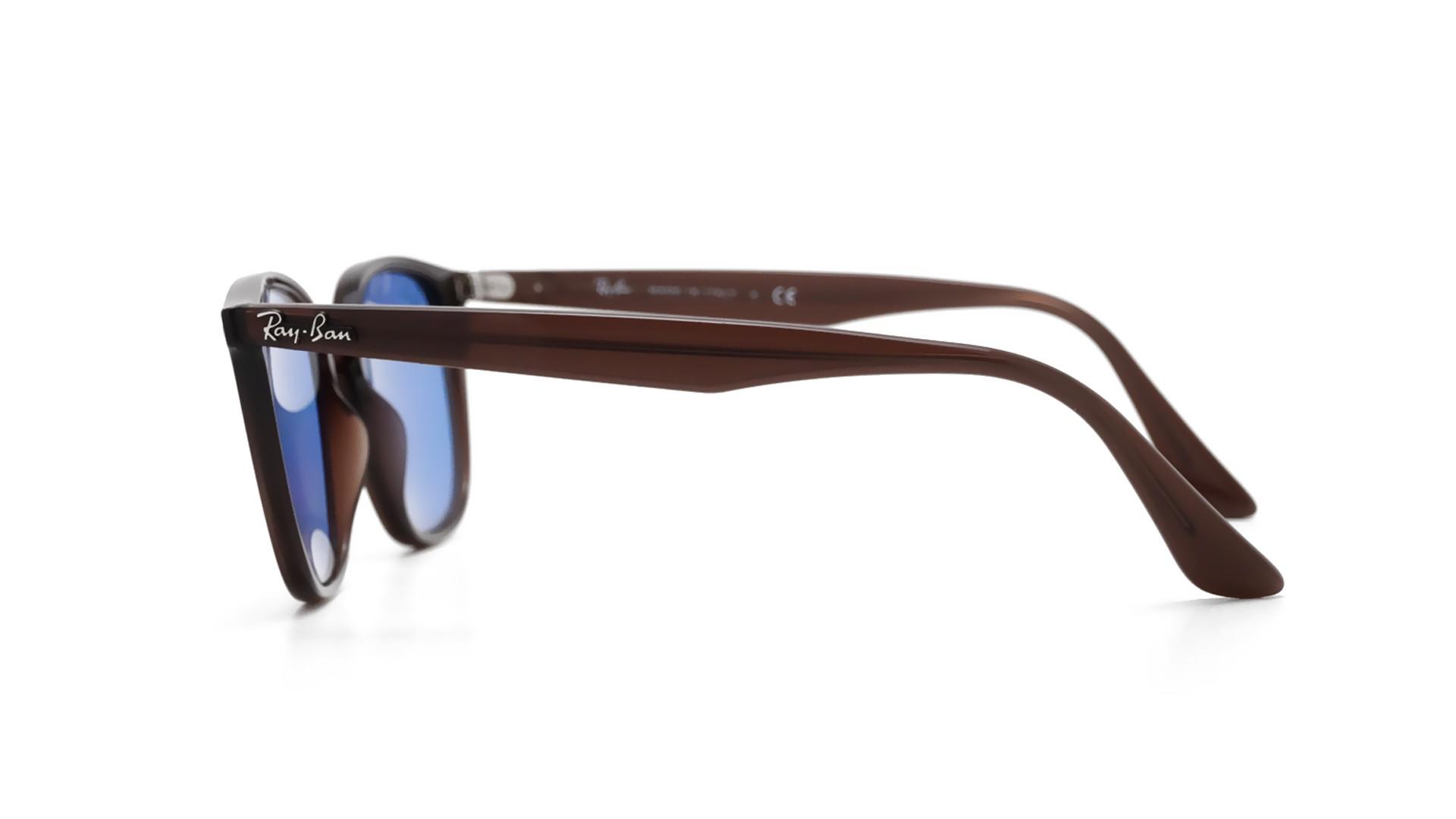 451d425586c Sonnenbrillen Ray-Ban Shiny opal brown Braun RB4258 62311N 50-20 Mittel  Verspiegelte Gläser