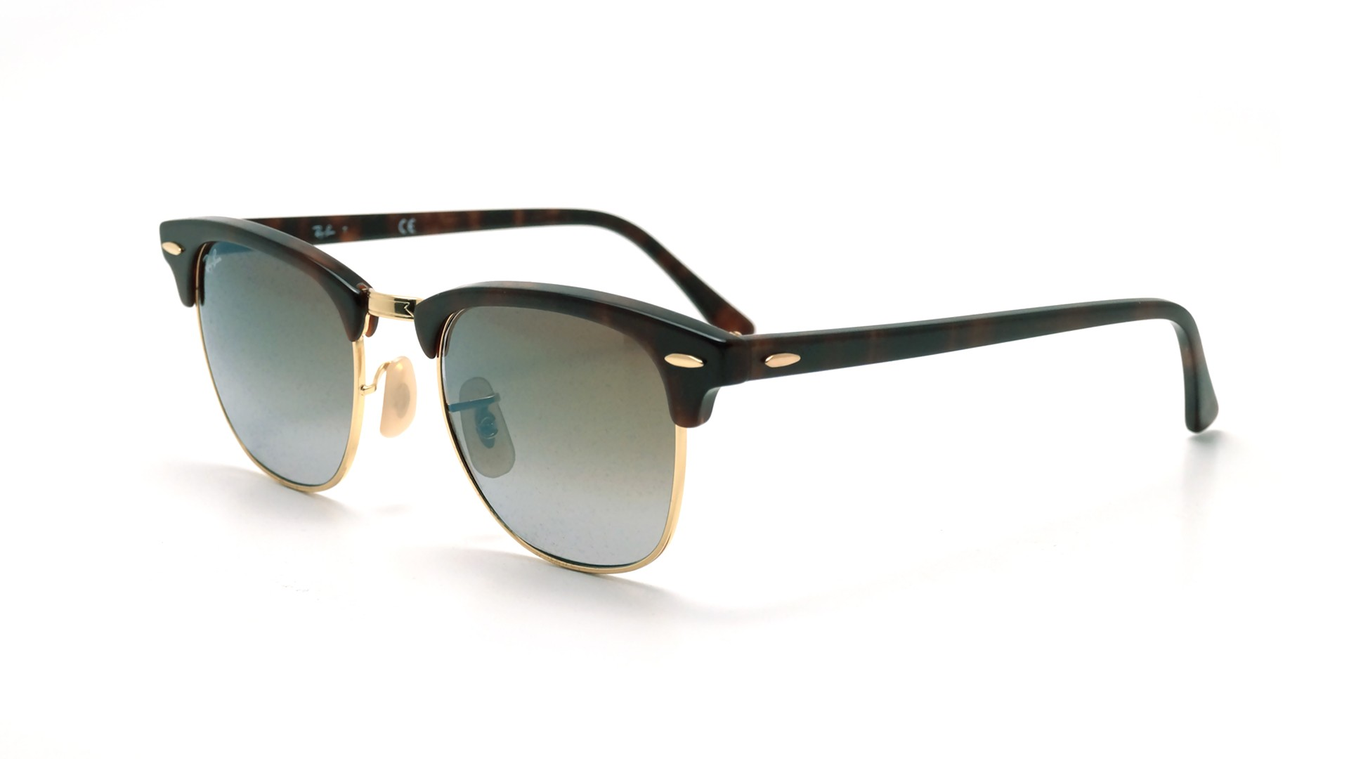 00aab8fff1 Sunglasses Ray-Ban Clubmaster Tortoise Flash lenses RB3016 990 9J 49-21  Small Degraded Flash