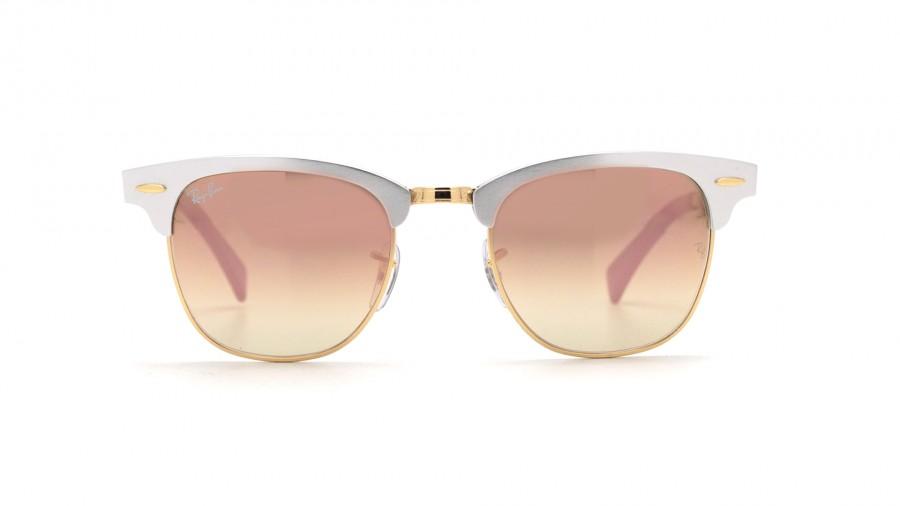 a408e92b98 Ray Ban Clubmaster Silver Aluminium. Ray-Ban Silver Clubmaster Aluminum Rb3507  Sunglasses ...